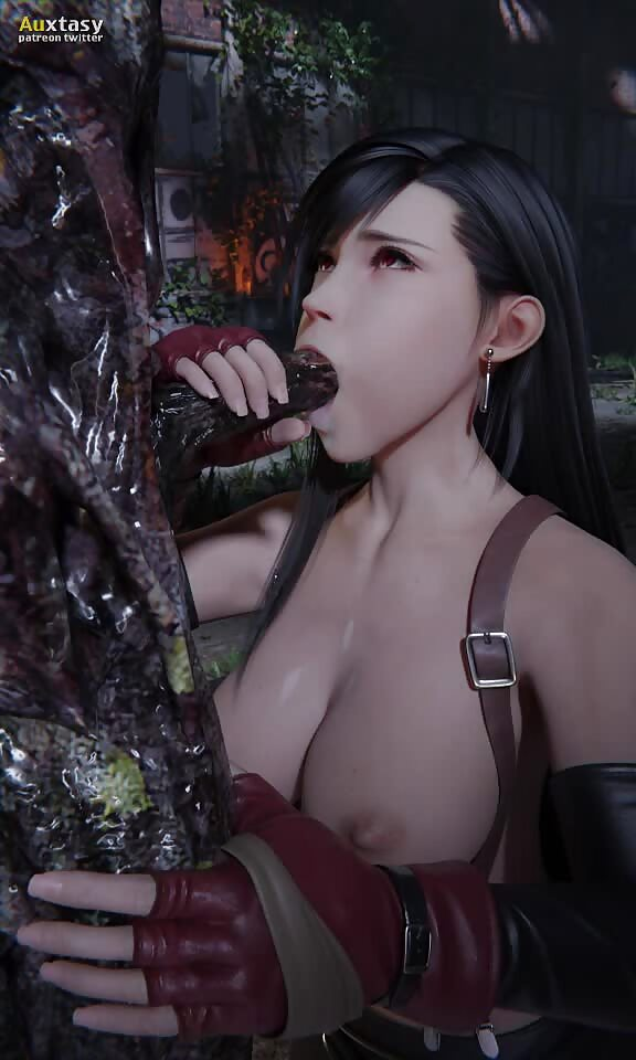 Tifa suck monster dick
