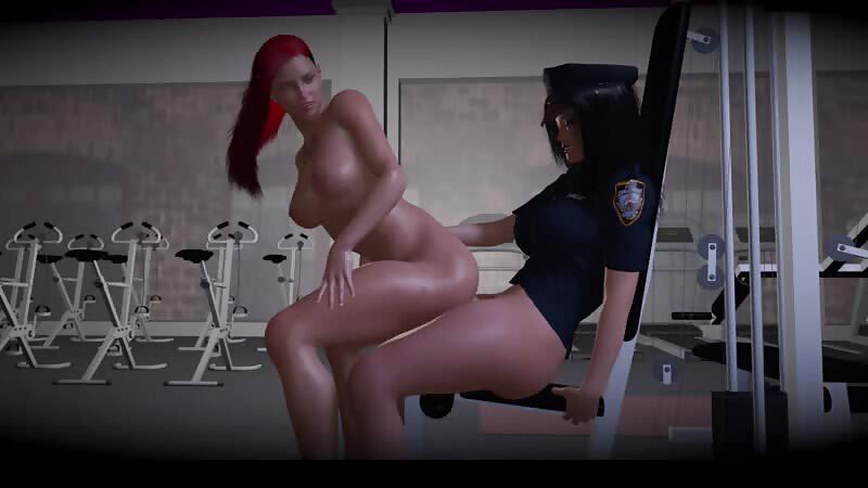 Virt-a-mate - Dickgirl cop