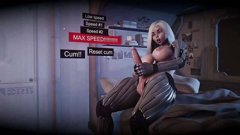 Virt-a-mate - Dickgirl cumshot